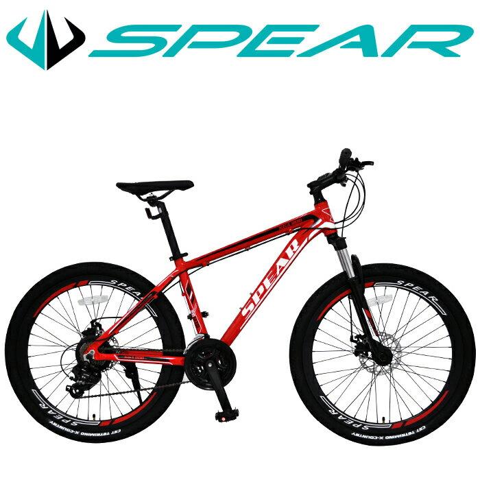 マウンテンバイク 26インチ 自転車 シマノ製 21段変速 SPEAR(スペア) ディレーラー Tourney(ターニー) 1年保証 適用身長160cm以上 男性 女性 1年保証