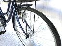 自転車 26インチ サントラストママチャリ6段変速ギア オートライト ギア付き かぎ付き LECIEL ルシール シティサイクル ネイビー