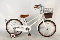 送付先関東限定 EASTBOY イーストボーイ 自転車 シティサイクル ホワイト 白<大人かわいい>キッズ2017年【16インチ 送料無料 イーストボーイ 自転車の画像