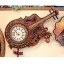 輸入雑貨:壁掛時計:ヴァイオリン