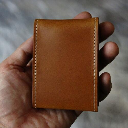 cyproductカード&コインパースnakedキャメル(小銭入れコインケース)