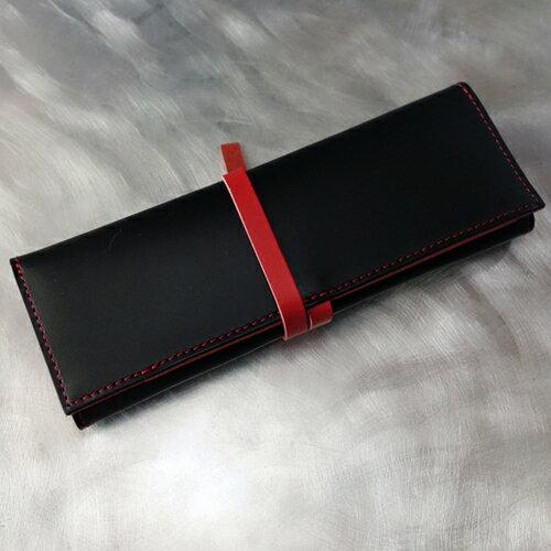 ペンケースH3S黒/レッド