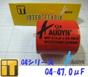 ドイツ製 オーディンキャップ Audyn Cap フィルムコンデンサー Q4-47.0μF/400V FOLIENKONDENS Q4 MKP 47.0MF/400V 5% AXIAL