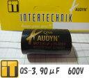 ☆3個以上同時購入で料無料 インターテクニック フィルムコンデンサー QS-3.90μF/630V  AUDYN CAP オーディンキャップ MKP-QS 3.90MF/630V 5% AXIAL