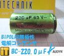 インターテクニック INTERTECHNIK 無極性電解コンデンサ BC-220.0μF/63V BIPOLARシリーズ AUDYN CAP...