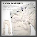 JIMMY TAVERNITI ジミータバニティ Blackie ブラッキー ストレッチ テーパード デニット ホワイト スリム タイト デニム メンズ パンツ ジーパン ジーンズ デニムパンツ ボトム おしゃれ かっこいい アメカジ ブランド 大きいサイズ