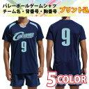 バレーボール ユニフォーム名入れ チーム名 背番号 胸番号単色プリント込み5色展開 チーム オーダー バレーボール