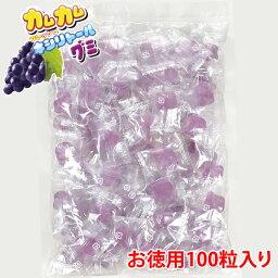 カムカム フレッシュキシリトールグミ グレープ味 お徳用100粒入