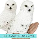 ペットバンク シロフクロウ / PET BANK SNOWY OWL [フクロウ置物 貯金箱 フクロウ ふくろう オウル フクロウ雑貨 ふくろうグッズ オブジェ 置物 動物 かわいい] 【あす楽対応】