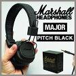 【送料無料】【国内正規品】Marshall Headphone MAJOR PITCH BLACK / マーシャル ヘッドフォン メジャー ピッチブラック [iPhone対応マイク&リモコン付き!ヘッドホン / おしゃれ / 高音質 / ブラックデニム]【購入特典あり】 【あす楽対応】