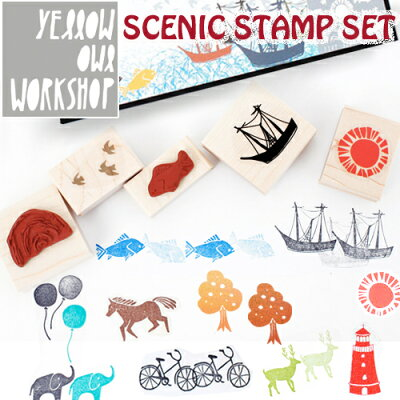 YELLOWOWLWORKSHOP�����?������������å�SCENICSTAMPSET�����˥å�������ץ��å�