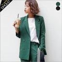 【送料無料】ダブルブレストテーラードジャケット・全2色 t46868 レディース【jk】【オフィスカジュアル】