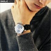★サークルフレームデュアルタイム腕時計・全3色★a48545 メンズ【acc】