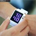 楽天DHOLIC【ディーホリック】LEDスクエアフレームウォッチ・全2色 n48252 メンズ【acc】【腕時計 シンプル カジュアル デジタル】