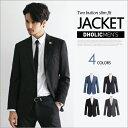 テーラードジャケット 2ボタンスリムフィットジャケット・全4色・n46861 メンズ【jk】【クラシック】【タイト】【スリム フィット】 大きいサイズ【セットア...