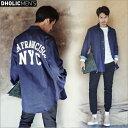 バックビッグロゴプリントシャツジャケット・全3色・n46612-2 メンズ【jk】