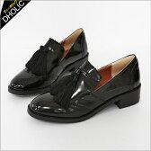 タッセルブラックローファー・全1色 s46826 レディース【sho】【おじ靴】