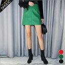 バックゴムレザーライクミスカート・全3色 t45695 レディース【sk】【台形スカート】