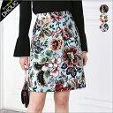 バックゴムフローラルパターンAラインスカート・全3色・t47447 レディース【sk】【花柄】【フラワー】【ハイホリHIHOLLI】