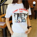 CAMPFIREWOODプリントTシャツ・全2色 b47042 レディース【tops】【トップス】