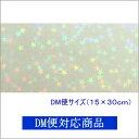 【DM便対応商品】透明ホログラムシート 1/2サイズ マイクロスター(無色透明)【ホログラムシール】