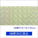 【DM便対応商品】透明ホログラムシート 1/2サイズ 1/4プリズム(無色透明)【ホログラムシール】