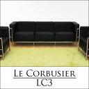 【送料無料】ル・コルビジェ(Le Corbusier) LC3 3P 3人掛けソファ オフィス家具 デザイナーズ家具 ハイグレード品