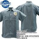BUZZ RICKSON'S(バズリクソンズ)スヌーピーコラボ BR×PEANUTS BLUE CHAMBRAY WORK SHIRT『SNOOPY NAVAL...