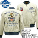 BUZZ RICKSON'S(バズリクソンズ)スヌーピーコラボ BR×PEANUTS『SNOOPY TOUR JACKET』BR13779-105 Off Wh...