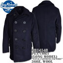 BUZZ RICKSON'S バズリクソンズ Type PEA COAT (LONG MODEL) 36oz Wool/Wool Lining『NAVAL CLOTHING FACTORY』BR14146