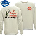BUZZ RICKSON'S(バズリクソンズ)スヌーピーコラボTシャツ BR×PEANUTS L/S TEE『I'm Ready To Go Home』BR68359-101 White