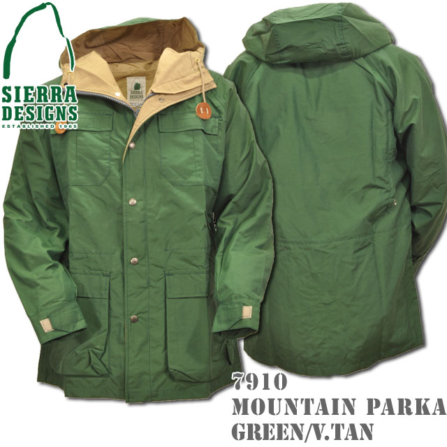 SIERRA DESIGNS (シエラデザインズ) MOUNTAIN PARKA マウンテンパーカー Green/V.tan 7910