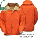 SIERRA DESIGNS (シエラデザインズ) SHORT PARKA Orange/Vtan 8001J