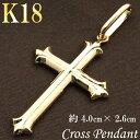 ネックレス クロス 18k 18金 十字架 シンプル ゴール...