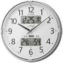 4FY618-019 電波掛時計 CITIZEN シチズン インフォームナビF 4FY618019 シルバーメタリック色 壁掛け時計 電波時計 電波掛け時計 電...