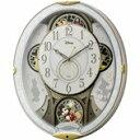 4MN509MC03 電波からくり掛時計 リズム時計 ミッキー&フレンズ M509 壁掛け時計 電波時計 電波掛け時計 電波掛時計 壁掛時計 かけ時計..