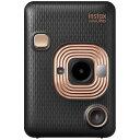 FUJIFILM チェキカメラ ハイブリッドインスタントカメラ instax mini LiPlay エレガントブラック[-]