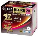 TDK 録画用ブルーレイディスク 超硬シリーズ BD-RE DL 長時間2層ディスク 50GB 1-2倍速 ホワイトワイドプリンタブル 20枚 5mmスリムケース BEV50HCPWA20A