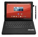 【送料無料】IVSO オリジナルSony Xperia Z4 Tablet docomo SO-05G au SOT31専用PUレザーケース マグネット着脱可能 一体型Bluetoothワイヤレスキーボード (ブラック)