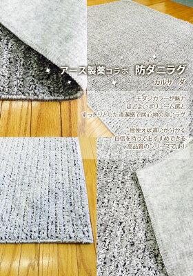 【送料無料】日本製アスワン▼ラグマット200×200cmカルサーダ▼お医者がすすめる防ダニ加工ラグアース防ダニ抗菌滑りにくいウォッシャブル