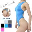 極薄素材(スーパー・シャイニー・ウェット素材)を使用した 体のラインにぴったりフィットする競泳水着。
