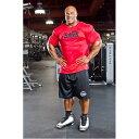 Schiek シーク ドライTシャツ レッド RED 筋トレ・ウェイトトレーニングに! バルクアップ、筋肉増量、減量、ボディメイク、フィジーク、ボディビル
