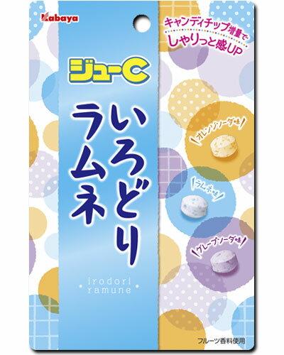 【カバヤ食品】100円 ジューCいろどりラムネ40g(10袋入)