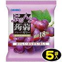 【オリヒロ】6個ぷるんと蒟蒻ゼリーパウチ〈グレープ〉(5袋入...