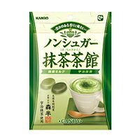 KANRO抹茶茶馆纯正无添加无糖抹茶味糖果80g*6