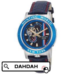 【クーポン利用で3000円OFF】正規品 HUNTING WORLD ハンティングワールド アディショナルタイム HW993BL 送料無料 メンズ 腕時計