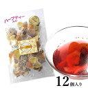 6種類のフルーツハーブティー 12個セット 食べられる 大容量 紅茶 ドライフルーツ ティーバック 業務用 バレンタイン ギフト 贈り物 パイナップル キウイ ベリー アップル おしゃれ 人気 送料無料