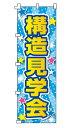【メール便可】不動産のぼり旗「構造見学会」