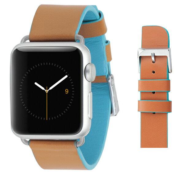 アップルウォッチ スマートウォッチ 交換ベルト 交換用ベルト アウトレット商品 case-mate Apple Watch 交換バンド アップル ウォッチ 38mm用 Edged Leather Brown Blue