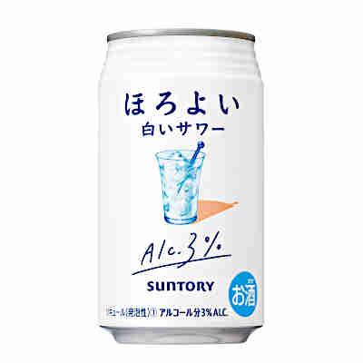 【送料無料1ケース】ほろよい 白いサワー サントリー 350ml缶 24本★北海道、沖縄のみ別途送料が必要となります